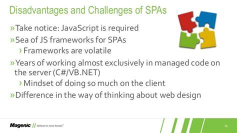 design thinking disadvantages cc 2015 single page applications for the aspnet developer