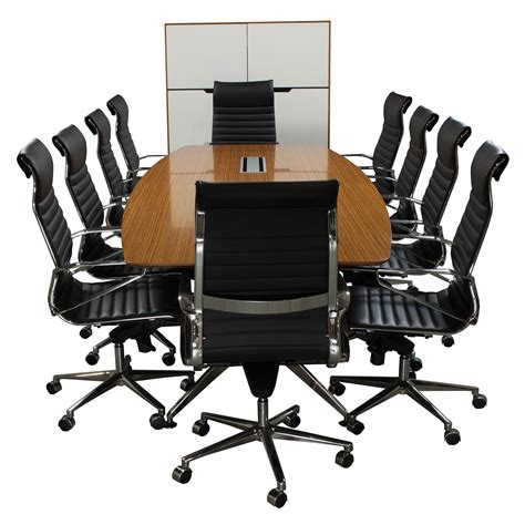 Veeneer 1 Set 12 foot veneer boat shaped conference table zebra