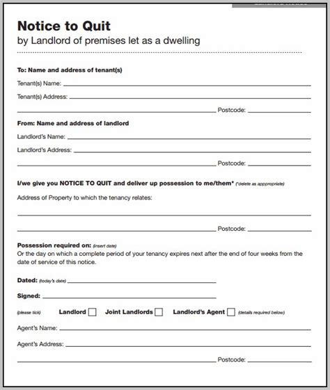 section 21 notice template free eviction notice template uk section 21 template