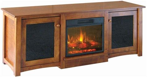 flint electric fireplace tv stand from dutchcrafters amish