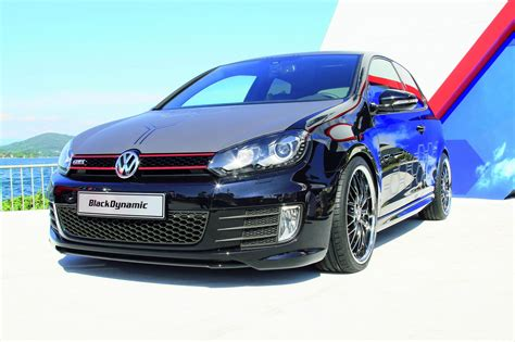 black volkswagen golf vw golf gti black dynamic at worthersee photo gallery
