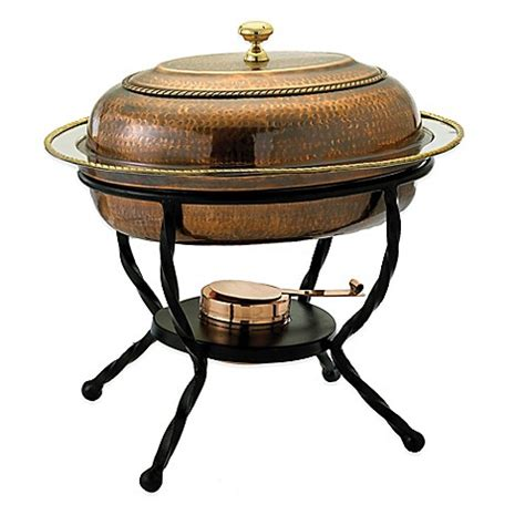chafing dish bed bath and beyond old dutch international 6 qt oval chafing dish in antique copper bed
