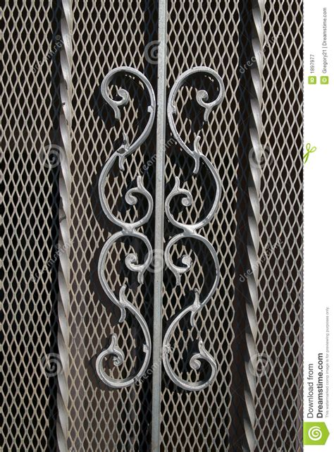 Decorative Metal by Decorative Scrolls On Screen Royalty Free Stock