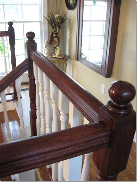gel stain banister staining an oak banister stains happy and no sanding