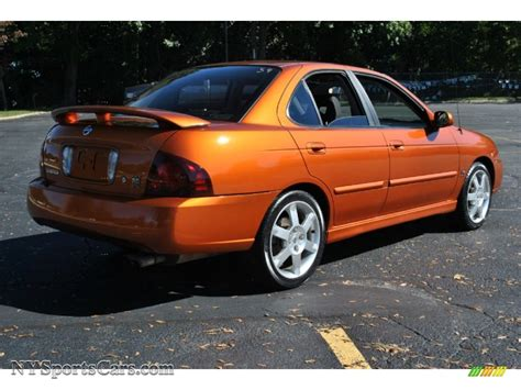 orange nissan sentra 2005 nissan sentra se r spec v in volcanic orange photo 6