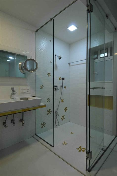 modern bathrooms in india bathroom with shower enclosure design by sonali shah