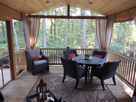 Screened In Porch Traditional Porch Baltimore By Screened In Porch Furniture Ideas