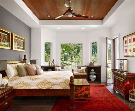 Pictures Of Interior Design Ideas Asian Bedroom Interior Design Ideas Featuring Marvelous Gray Accent Wall And Turkish Rug