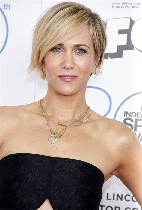 Kristen Wiig Hairstyles by Kristen Wiig Pixie Hairstyle For An Oblong