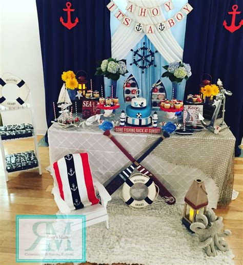 nautical themed baby shower baby shower party ideas