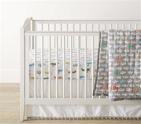 Organic Asher Airplane Baby Bedding Pottery Barn Kids Pottery Barn Airplane Crib Bedding