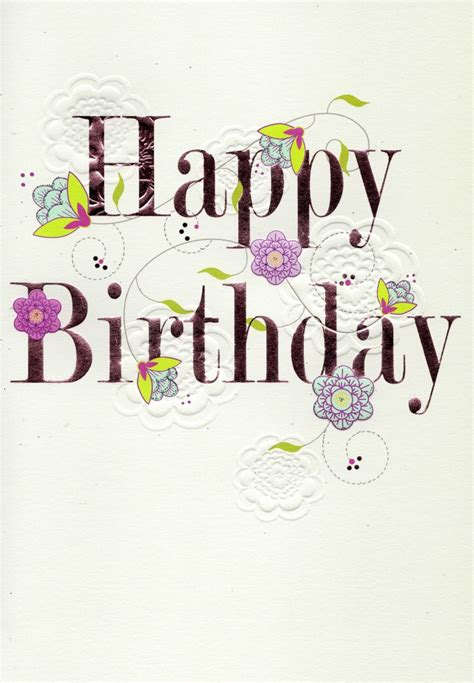 Happy Birthday Cards For by Pretty Happy Birthday Greeting Card Cards Kates