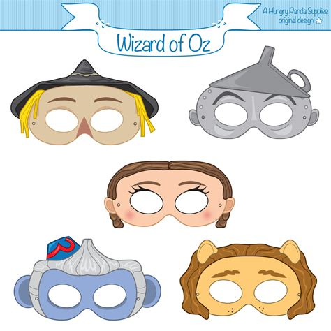 printable wizard mask wizard of oz printable masks dorothy mask by