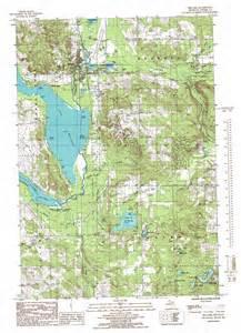 Michigan Topographic Map by Bellaire Topographic Map Mi Usgs Topo Quad 44085h2