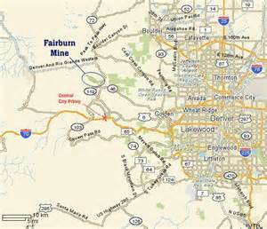 central city colorado map fairburn mining exploration