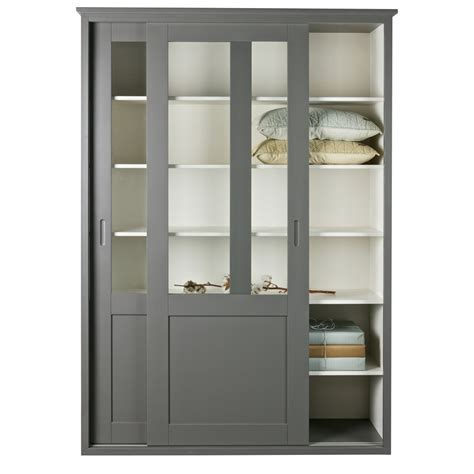 sliding door display cabinet vince display cabinet with sliding doors in grey woood