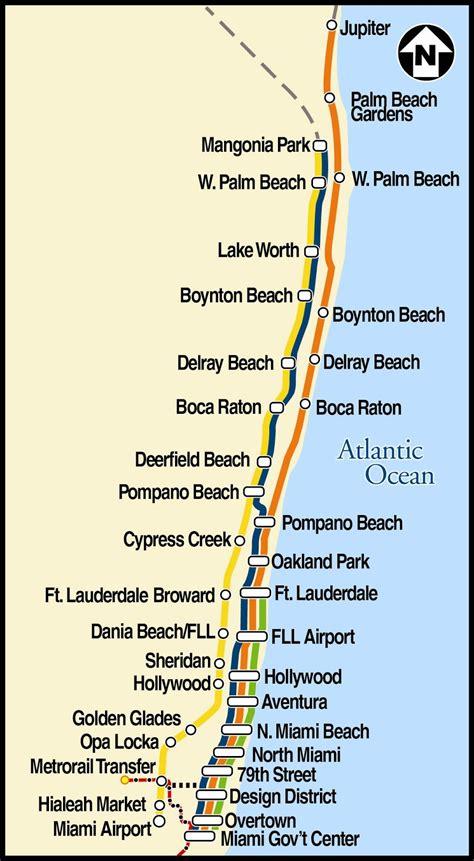 tri rail map palm cycle chic trains trains trains