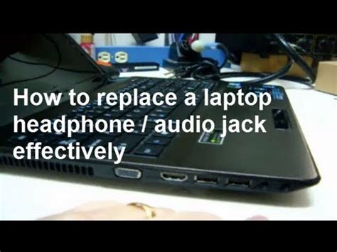 how to fix a broken laptop audio or headphone