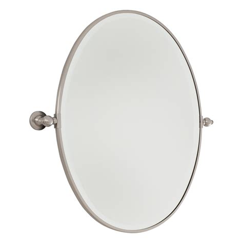 brushed nickel bathroom mirror oval bathroom mirrors brushed nickel 32 inch large brushed nickel oval mirror