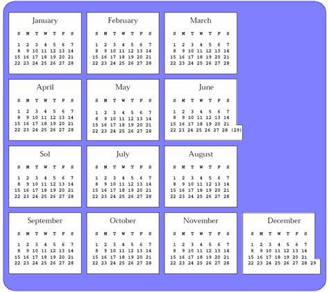 13 month calendar reform calendar template 2016
