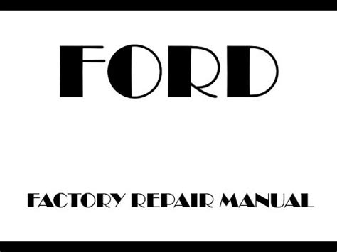 ford f 150 2015 2018 factory repair manual ford f 150 2016 2017 factory repair manual youtube
