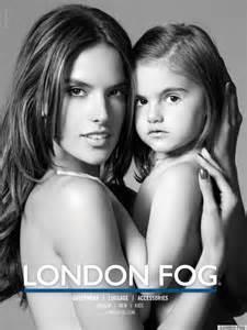Alessandra ambrosio s daughter anja stars in london fog ad campaign