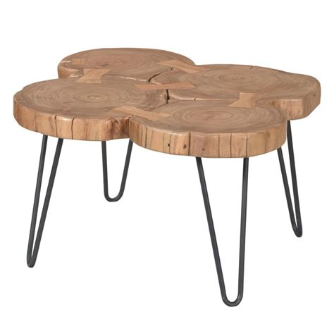 adele coffee table in solid acacia wood simply