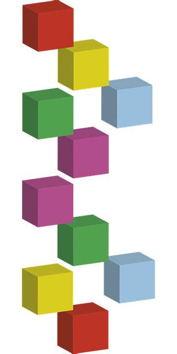 Square 3d free vector graphic cubes layout 3d cubes square