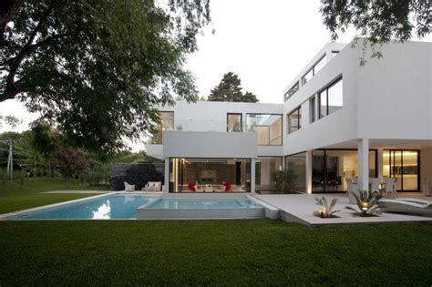 Dream House Design Inside And Outside by Transparent Carrara House In Argentina With Swimming Pool