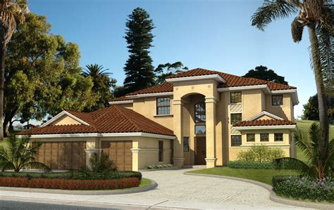 palatial two story master suite in mediterranean style decoration two story house with diagonal entrance gateway