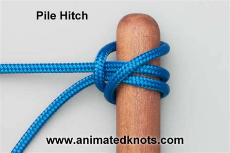 Hitch Knot - pile hitch how to tie the pile hitch knots