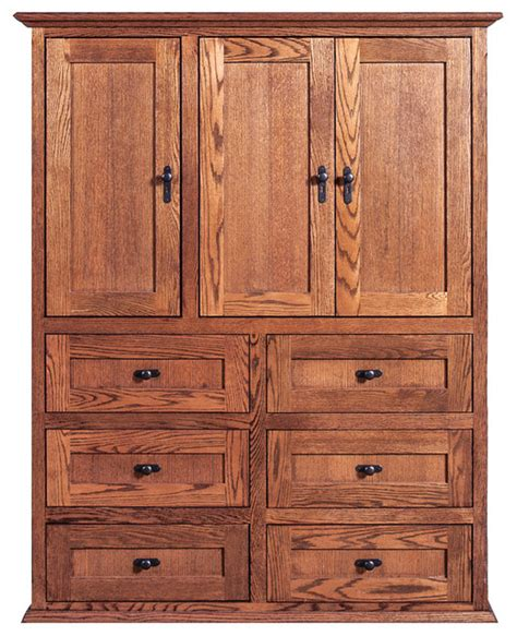 mission ten drawer armoire oak craftsman armoires