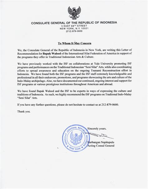 Letter Consulate General Letter Of Recommendation From Work Best Template Collection