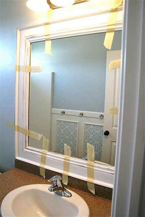 bathroom mirror makeover diy framed mirror ta do s pinterest