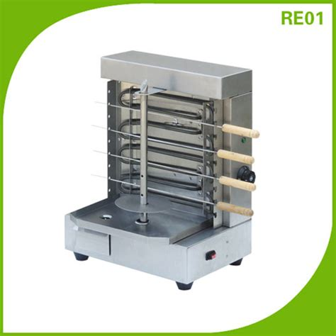 Small Grill Machine For Home Electric Home Skewers Kebab Doner Shawarma Machine Grill Re01