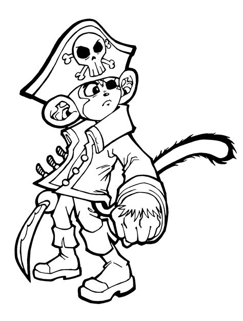 monkey pirate coloring pages cap n chef the monkey pirate by capnchef on deviantart