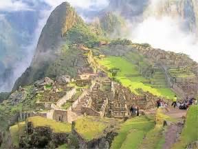 machu picchu ruins sketch by t douglas painting on deviantart
