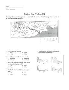 contour map worksheet 2 6th 9th grade worksheet