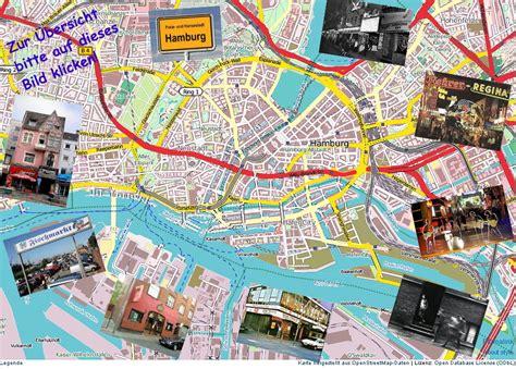 Hamburg Karte by Hamburg Sehenswertes Karte Schottland Karte