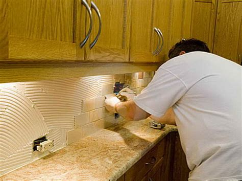 installing backsplash kitchen kitchen how to install backsplash with the edge how to