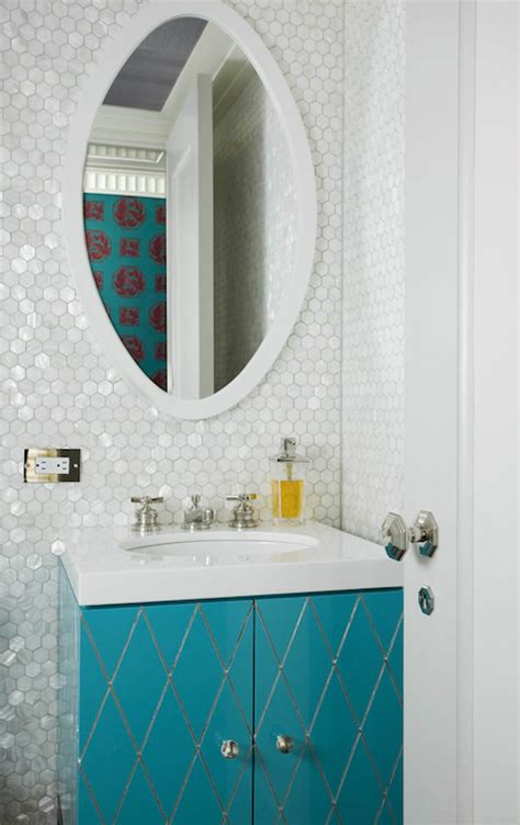 turquoise vanity contemporary bathroom philip