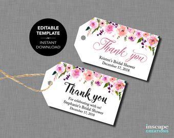 wording for bridal shower favor tags bridal shower favor etsy