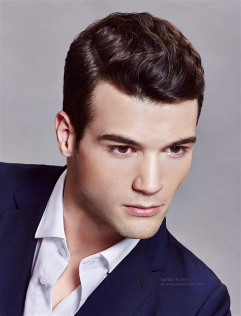 mens hairstyles with gel neat and slicked back haircut that makes look
