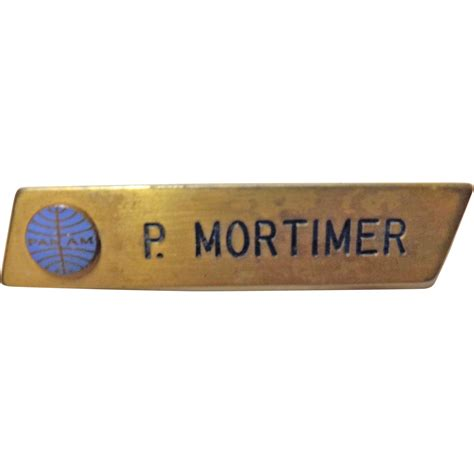 pan name pan am airlines staff name badge from molotov on ruby