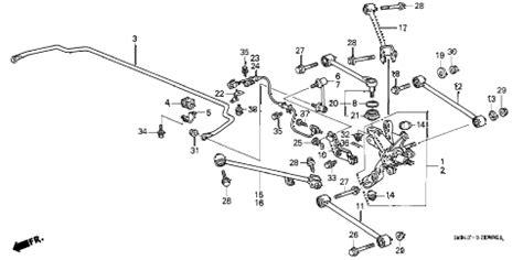 2000 honda accord parts diagram honda store 2000 accord rear lower arm parts