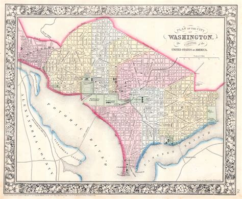 map of washington dc the lincoln memorial almost a century later 1917 vs 2016