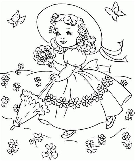 spring coloring pages printable ideas spring season colouring pages free for kids girls 20958