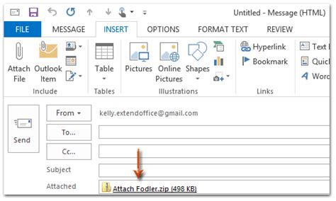 Office 365 Outlook How To Attach Email How To Attach A Folder In An Email Message In Outlook