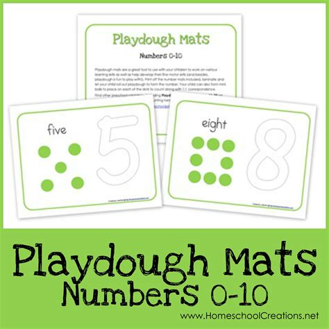 Play Doh Number Mats by Number Playdough Mats Free Printables