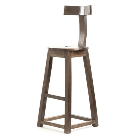 bar stools for home modern industrial rustic solid wood bar stool kathy kuo home
